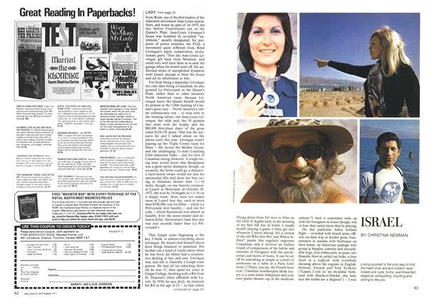 Article Preview: ISRAEL, September 1973 | Maclean's