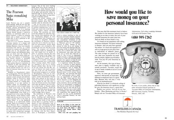 Article Preview: The Pearson Saga: remaking Mike, September 1973 | Maclean's