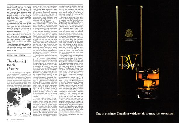 Article Preview: The cleansing touch of satire, September 1973   Maclean's