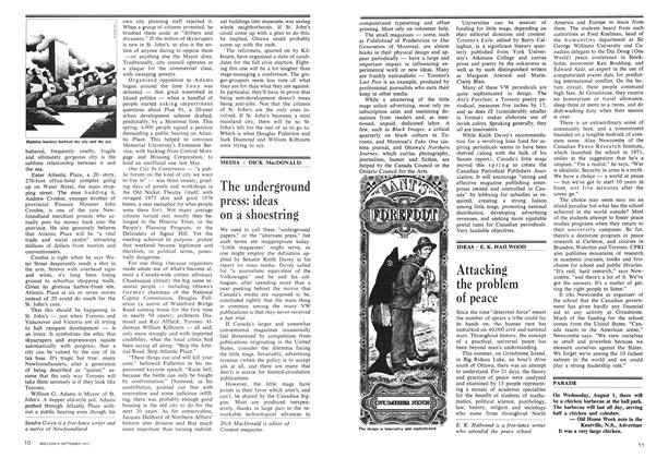 Article Preview: The underground press: ideas on a shoestring, September 1973 | Maclean's