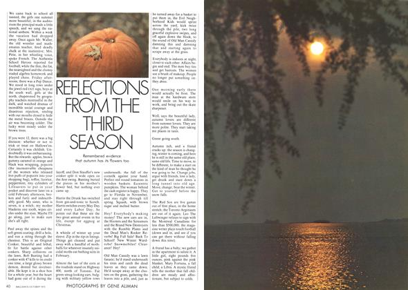 Article Preview: REFLECTIONS FROM THE THIRD SEASON, October 1973 | Maclean's