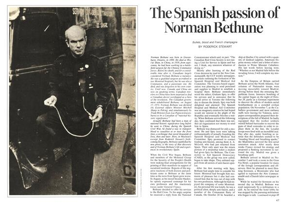 Article Preview: The Spanish passion of Norman Bethune, October 1973 | Maclean's