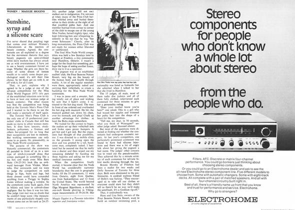 Article Preview: Sunshine, syrup and a silicone scare, October 1973 | Maclean's