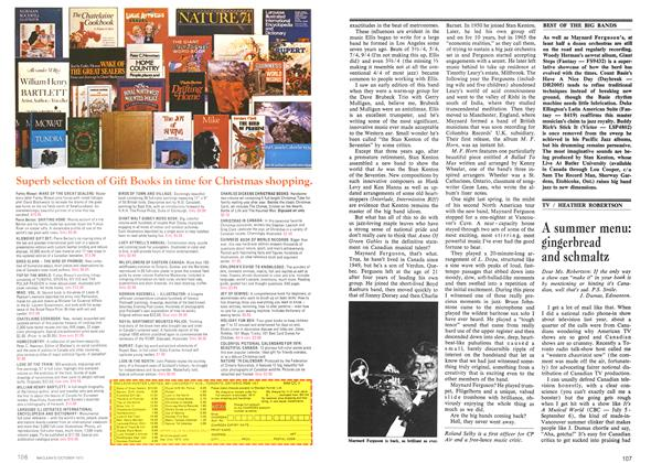 Article Preview: A summer menu: gingerbread and schmaltz, October 1973 | Maclean's
