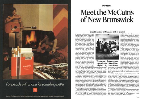 Article Preview: Meet the McCains of New Brunswick, November 1973 | Maclean's