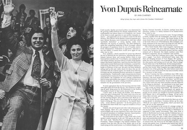Article Preview: Yvon Dupuis Reincarnate, November 1973   Maclean's