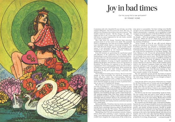 Article Preview: Joy in bad times, November 1973 | Maclean's