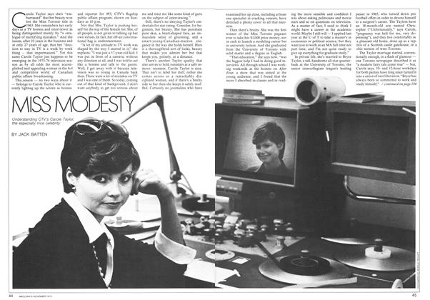 Article Preview: MISS MODESTY, November 1973 | Maclean's