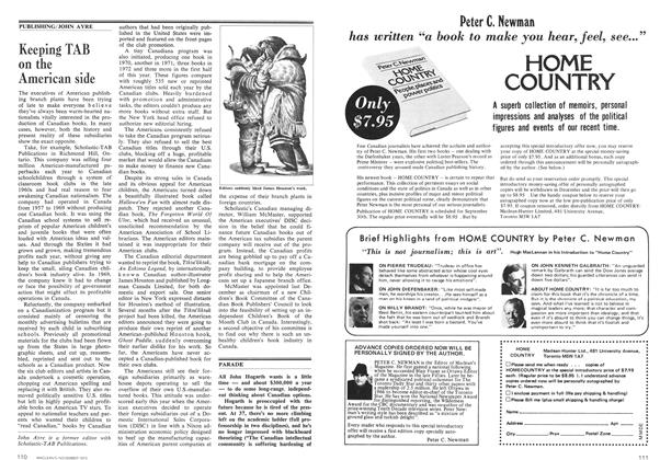 Article Preview: Keeping TAB on the American side, November 1973 | Maclean's