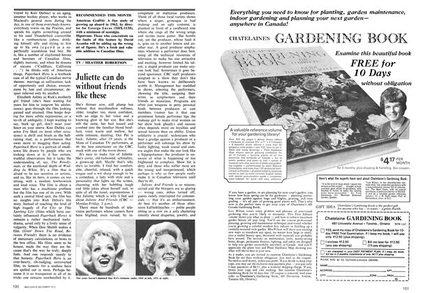 Article Preview: Juliette can do without friends like these, December 1973 | Maclean's