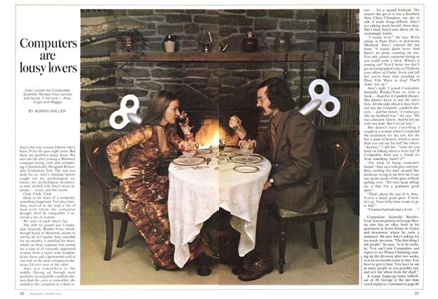 Article Preview: Computers are lousy lovers, January 1974 | Maclean's