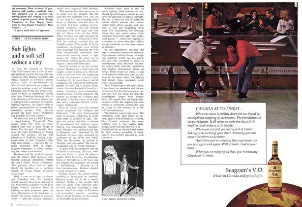 Article Preview: Soft lights and a soft sell seduce a city, January 1974 | Maclean's