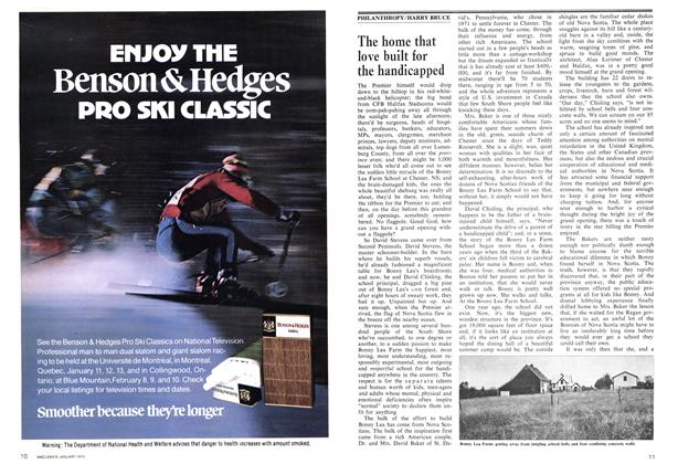 Article Preview: The home that love built for the handicapped, January 1974   Maclean's