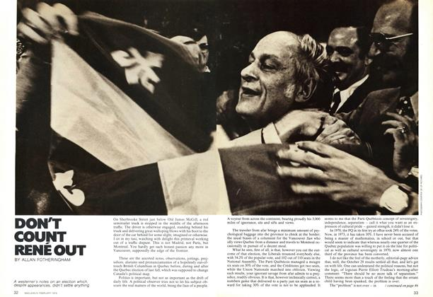 Article Preview: DON'T COUNT RENÉ OUT, February 1974 | Maclean's