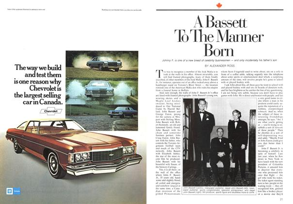 Article Preview: A Bassett To The Manner Born, March 1974 | Maclean's