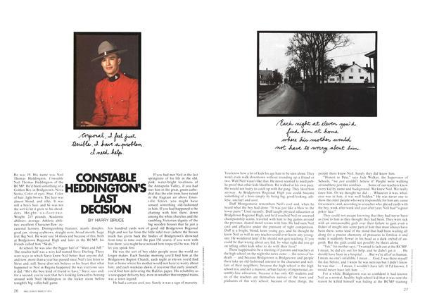 Article Preview: CONSIABLE HEDDINGTON'S LAST DECISION, March 1974   Maclean's