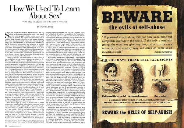 Article Preview: How We Used To Learn About Sex*, March 1974   Maclean's