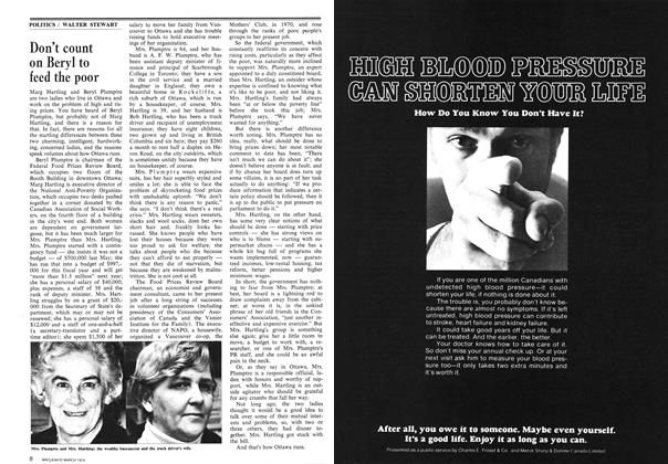 Article Preview: Don't count on Beryl to feed the poor, March 1974 | Maclean's