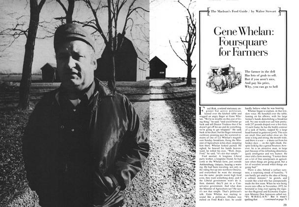Article Preview: Gene Whelan: Foursquare for Farmers, April 1974 | Maclean's
