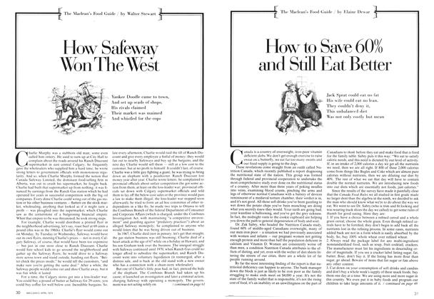 Article Preview: How to Save 60% and Still Eat Better, April 1974 | Maclean's