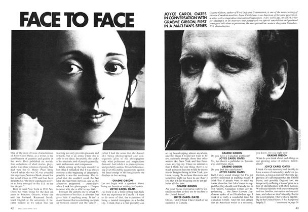 Article Preview: FACE TO FACE, April 1974 | Maclean's