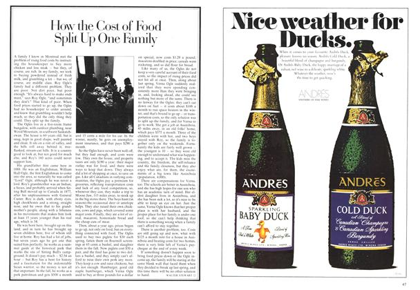 Article Preview: How the Cost of Food Split Up One Family, April 1974 | Maclean's