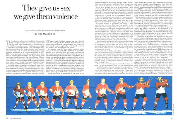 Article Preview: They give us sex we give them violence, May 1974 | Maclean's