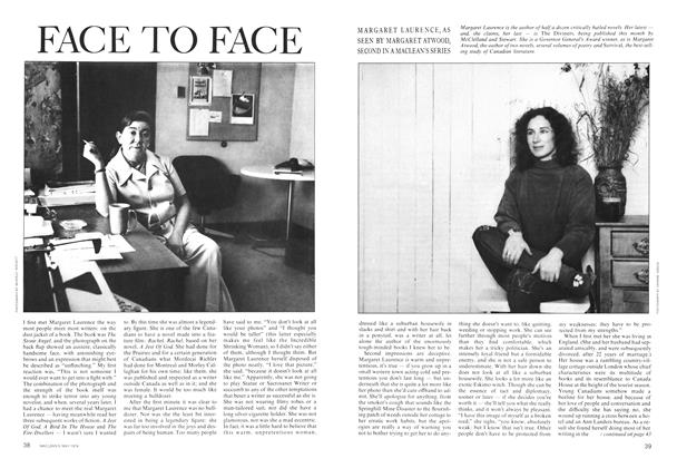 Article Preview: FACE TO FACE, May 1974 | Maclean's