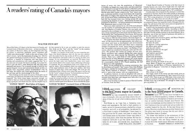 Article Preview: A readers' rating of Canada's mayors, May 1974 | Maclean's