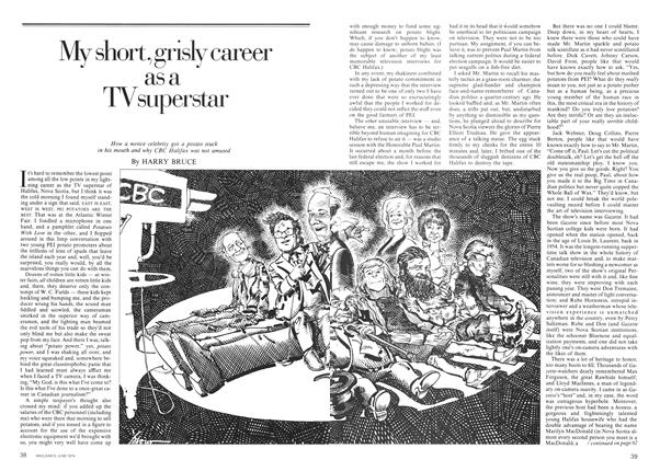 Article Preview: My short, grisly career as a TV superstar, June 1974 | Maclean's