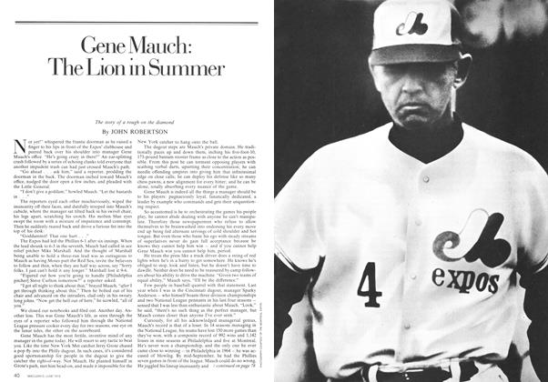 Article Preview: Gene Mauch: The Lion in Summer, June 1974 | Maclean's