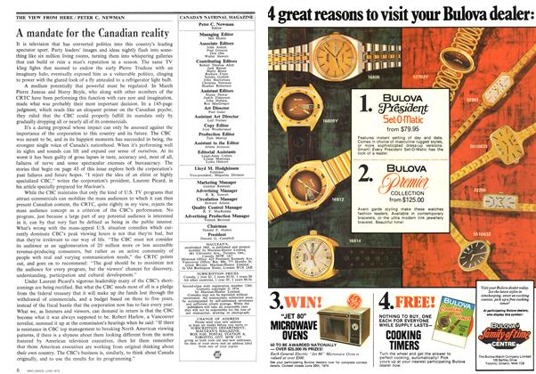 Article Preview: A mandate for the Canadian reality, June 1974 | Maclean's