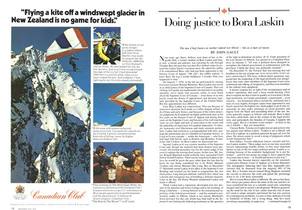 Article Preview: Doing justice to Bora Laskin, July 1974 | Maclean's