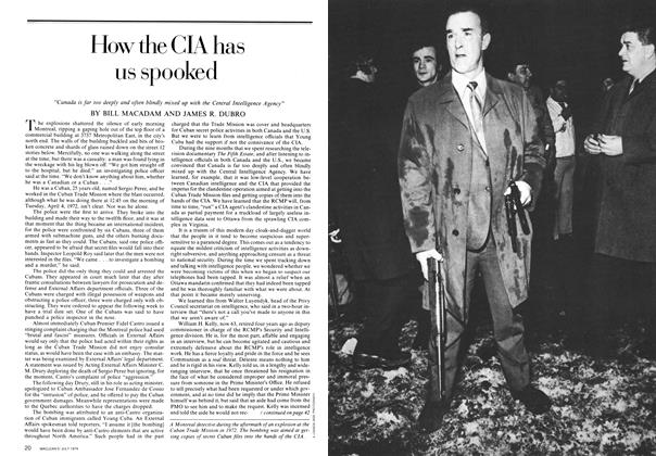 Article Preview: How the CIA has us spooked, July 1974 | Maclean's