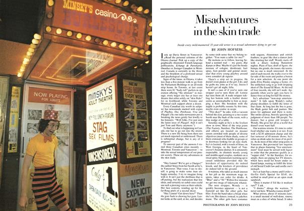 Article Preview: Misadventures in the skin trade, July 1974 | Maclean's