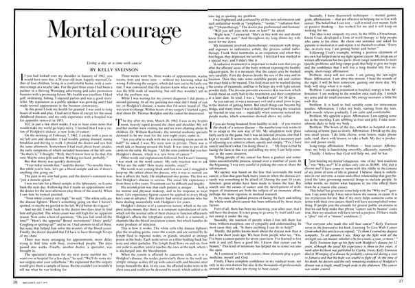 Article Preview: Mortal courage, July 1974 | Maclean's