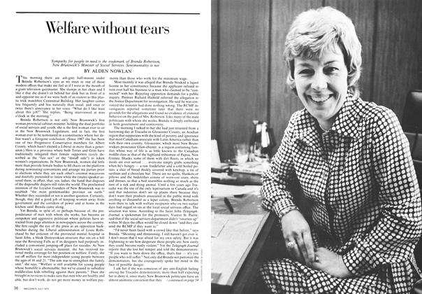 Article Preview: Welfare without tears, July 1974 | Maclean's