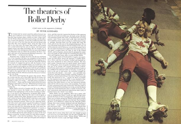 Article Preview: The theatrics of Roller Derby, August 1974 | Maclean's