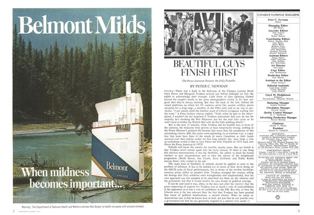 Article Preview: BEAUTIFUL GUYS FINISH FIRST, August 1974 | Maclean's