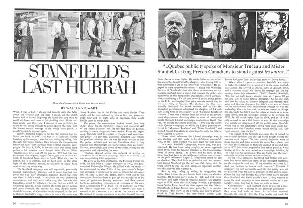 Article Preview: STANFIELD'S LAST HURRAH, August 1974 | Maclean's