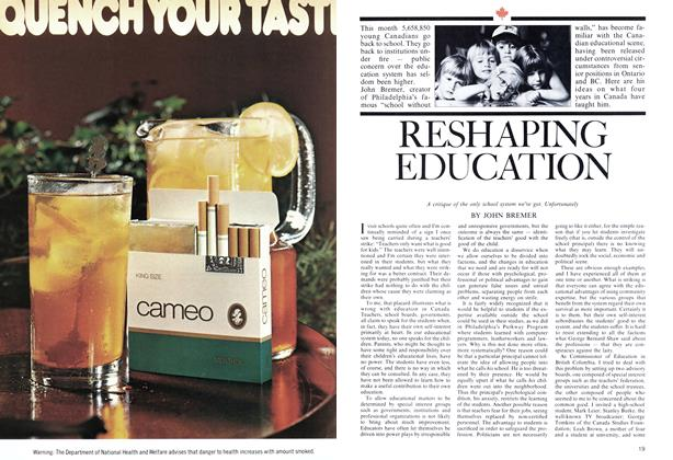 Article Preview: RESHAPING EDUCATION, September 1974 | Maclean's