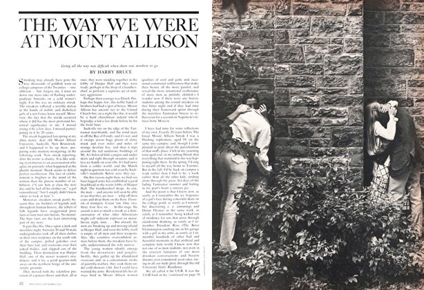 Article Preview: THE WAY WE WERE AT MOUNT ALLISON, September 1974 | Maclean's