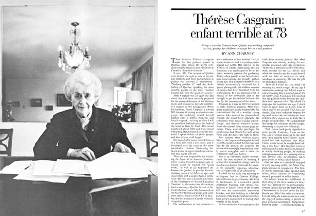 Article Preview: Thérèse Casgrain: enfant terrible at 78, September 1974 | Maclean's
