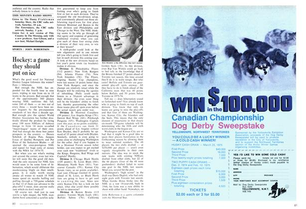 Article Preview: Hockey: a game they should put on ice, September 1974 | Maclean's