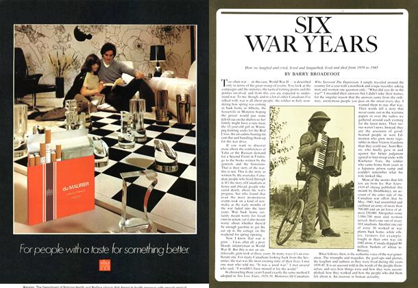 Article Preview: SIX WAR YEARS, October 1974 | Maclean's