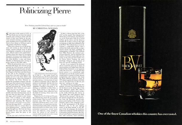 Article Preview: Politicizing Pierre, October 1974 | Maclean's
