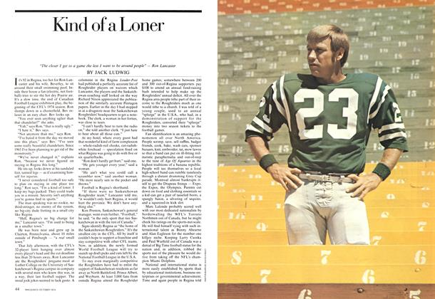 Article Preview: Kind of a Loner, October 1974 | Maclean's