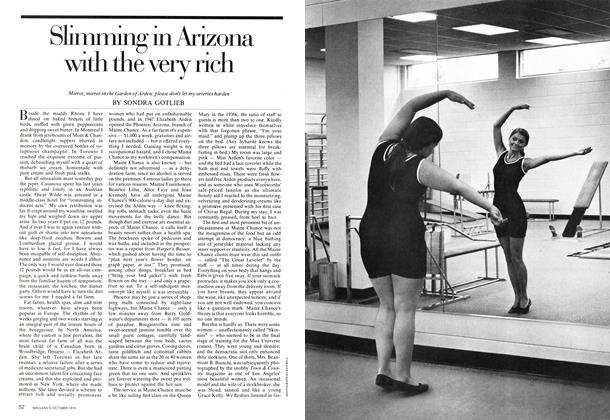 Article Preview: Slimming in Arizona with the very rich, October 1974 | Maclean's