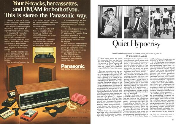 Article Preview: Quiet Hypocrisy, October 1974 | Maclean's