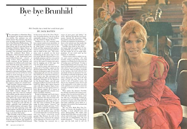 Article Preview: Bye-bye Brunhild, October 1974 | Maclean's